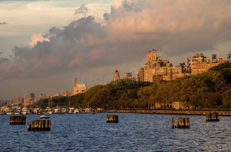 The west Manhattan Sunset royalty free stock photo