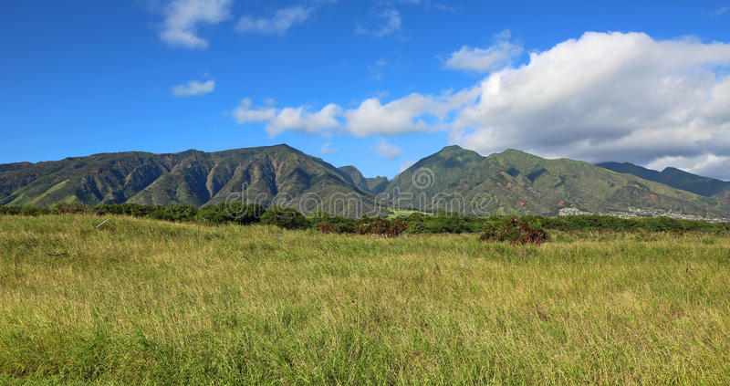 West Maui Mountains. Landscape with West Maui Mountains, Hawaii stock images