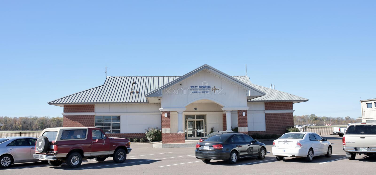 West Memphis Municipal Airport, Helena Arkansas. West Memphis Municipal Airport Center located in West Memphis, Arkansas stock photos