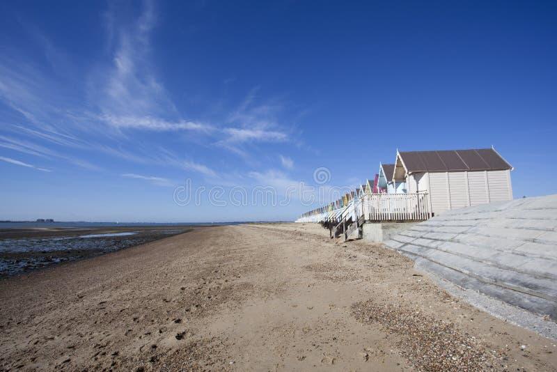 West Mersea Beach, Essex, England. Empty beach at West Mersea, Essex, England royalty free stock photos