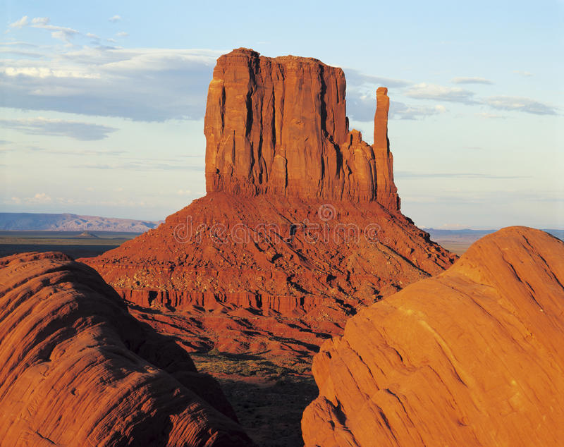 West mitten butte royalty free stock photo