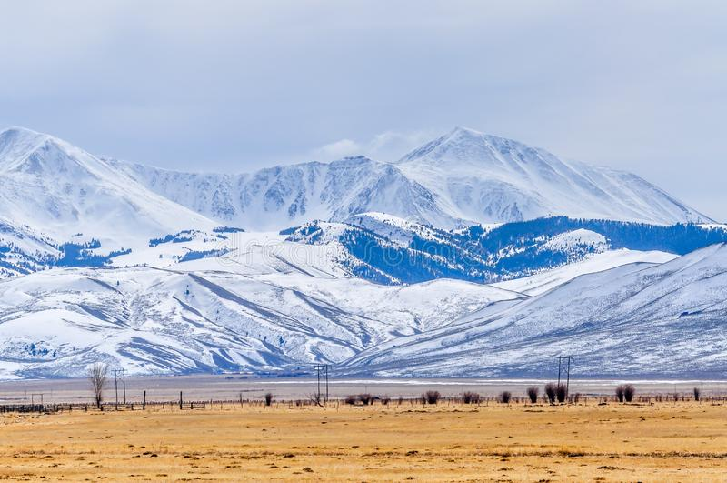 West-Montana Bitterroot Mountain Winter stockbilder