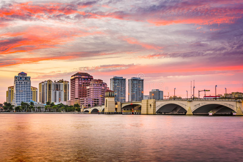 West Palm Beach Florida, USA fotografering för bildbyråer