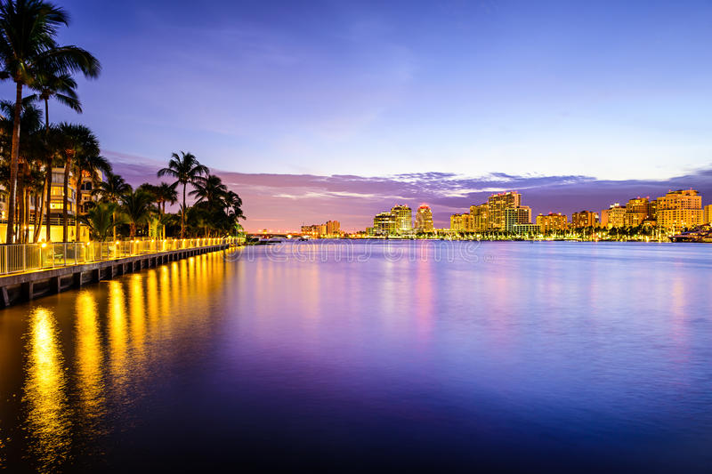 West Palm Beach Florida. West Palm Beach, Florida, USA on the intracoastal waterway stock photography