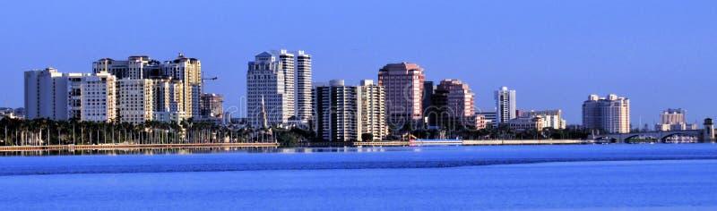 West Palm Beach horisont royaltyfri bild