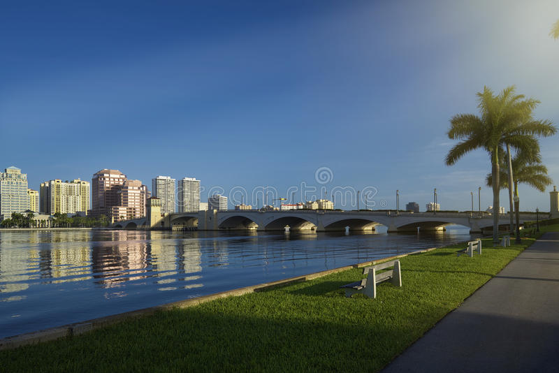West Palm Beach horisont royaltyfria bilder