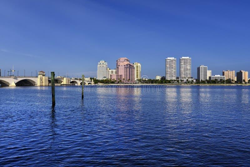 West Palm Beach Skyline stock image