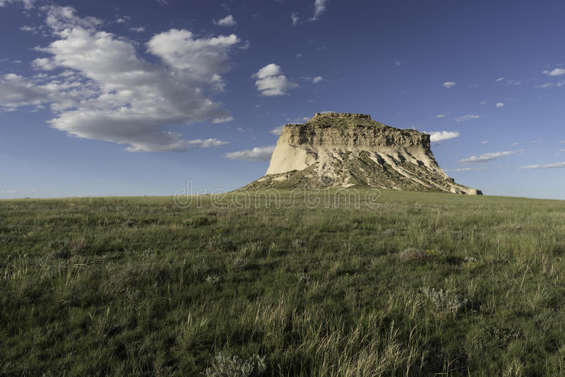 West Pawnee Butte. On the Pawnee National Grassland in Northeastern Colorado stock photo