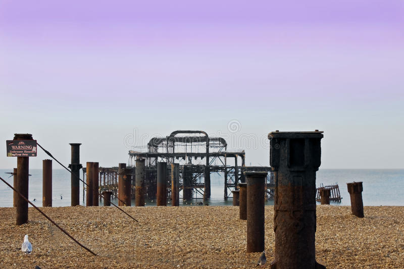 Download Ruined pier stock image. Image of ruin, seascape, coast - 14160151