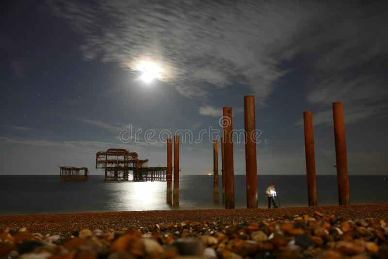 West Pier, Brighton stock images