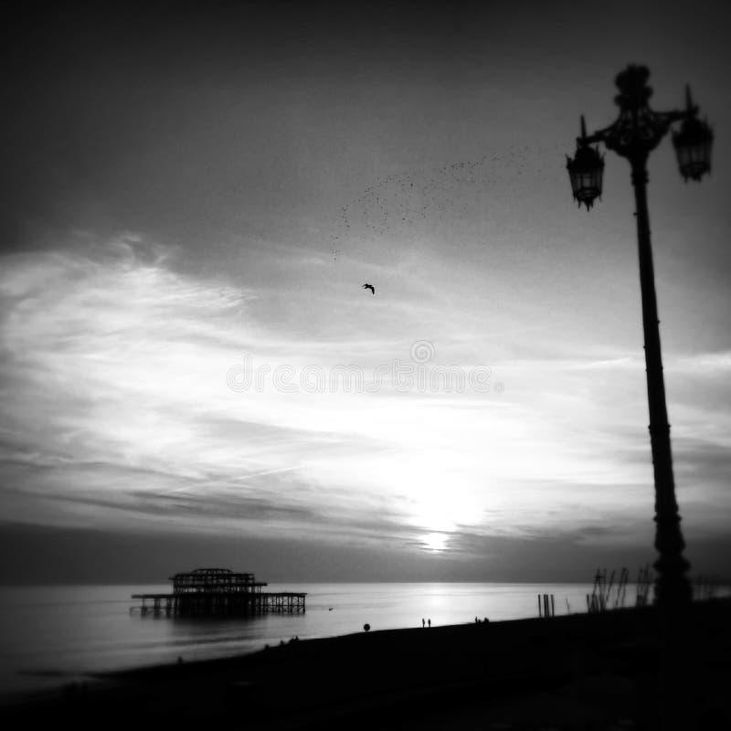 West Pier, Brighton, England stock image