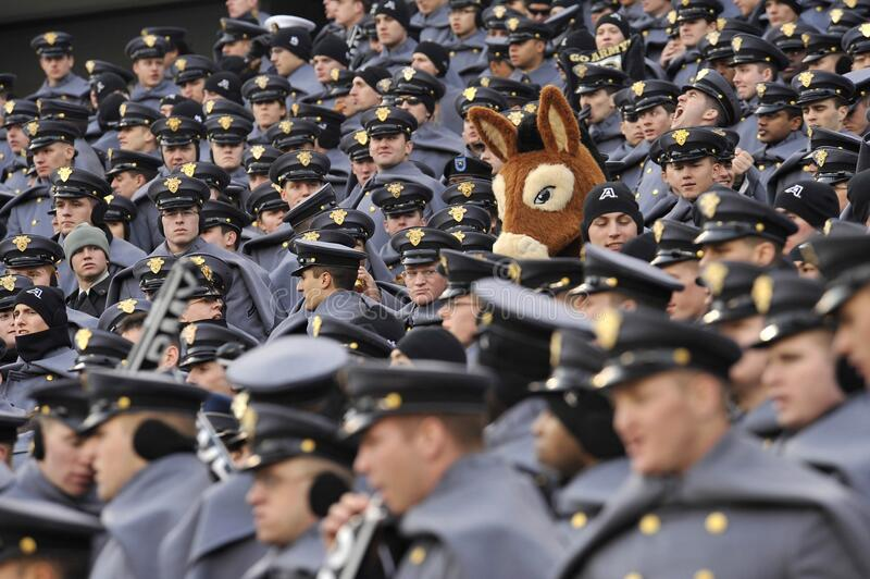 West Point Cadets and mascot