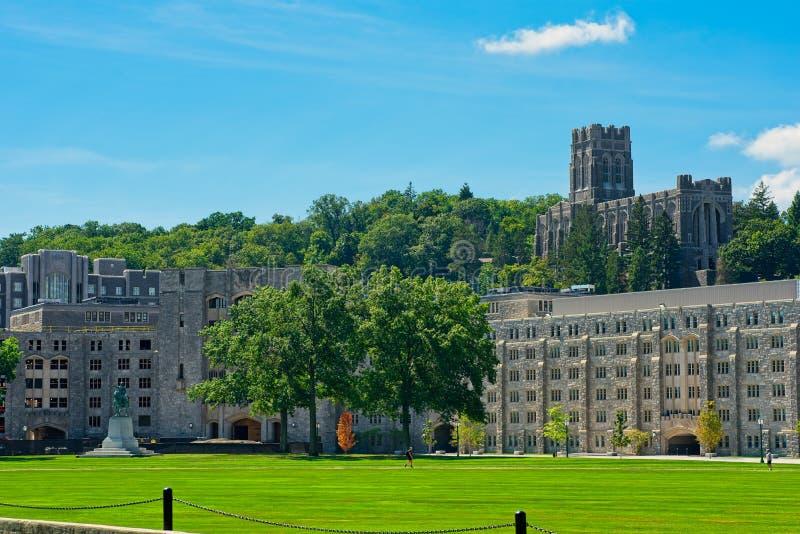 West Point-Kapelle und -ebene stockfoto