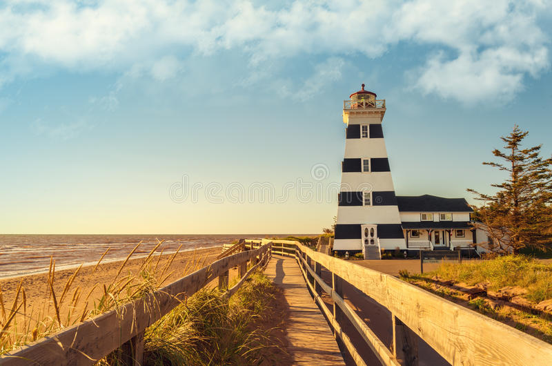 West Point Lighthouse. (Prince Edward Island, Canada royalty free stock images