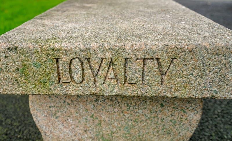 West Point lojalności ławka zdjęcia royalty free
