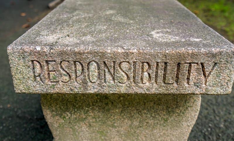 West Point odpowiedzialności ławka zdjęcia stock