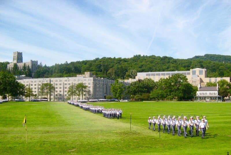 West Point studenter arkivbild