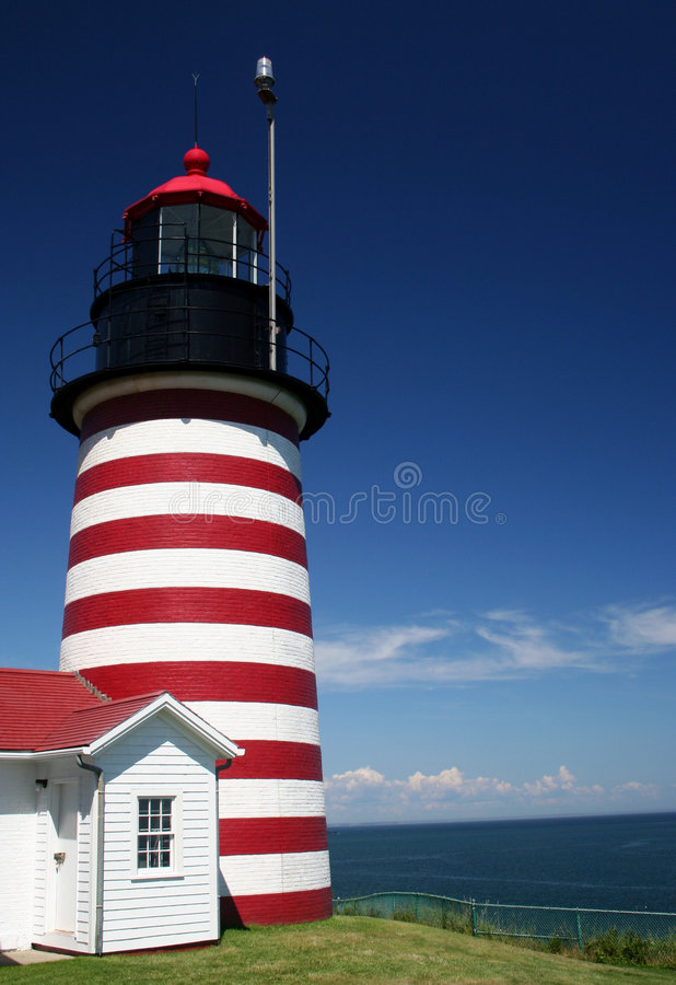 West Quoddy Lighthouse stock photos