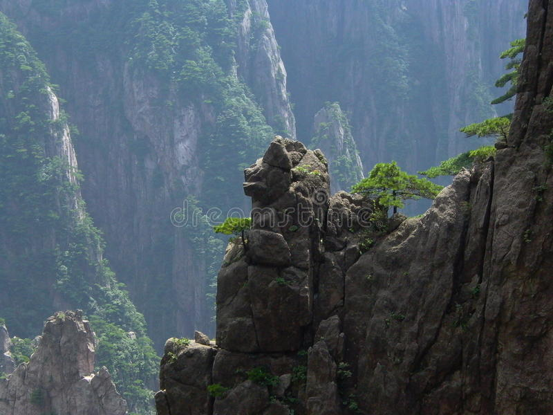 West Sea Valley, Yellow Mountain, China royalty free stock photography