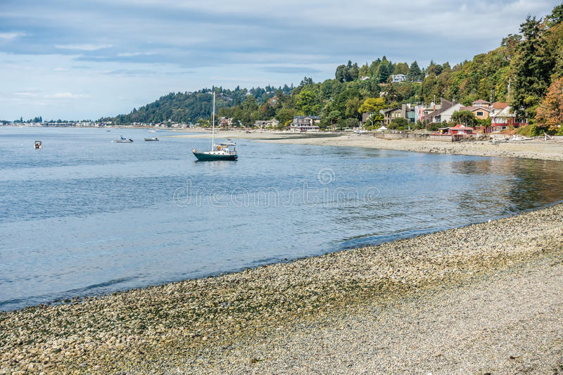 West Seattle Coastline 6. A view of the shoreline in West Seattle, Washington near Lincoln Park royalty free stock image