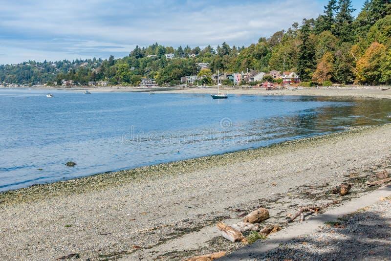 West-Seattle-Küstenlinie 4 stockbild