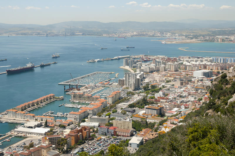 West Side of Gibraltar stock photos