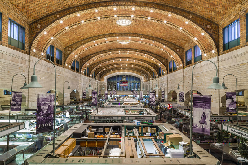 West Side Market in Cleveland OH stock photography