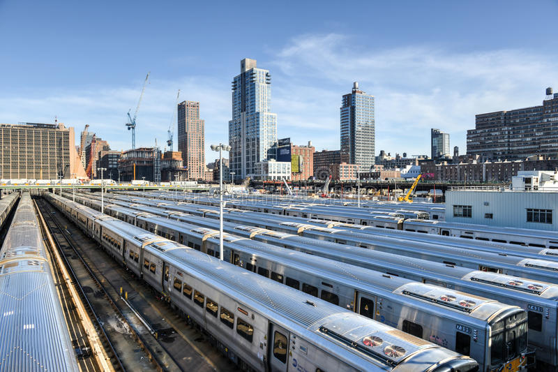 West Side Train Yard stock photo