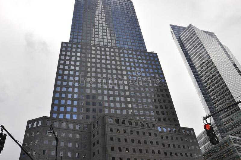 West St Manhattan Skyscraper from New York City in United States stock photography