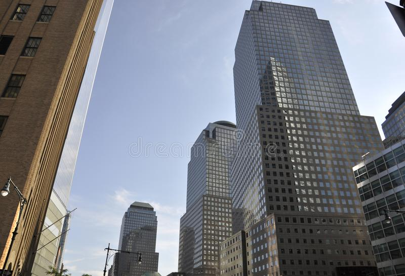 West St Manhattan Skyscraper from New York City in United States stock photos