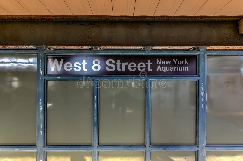 West8. Straßen-U-Bahnstation - New York City stockfotos