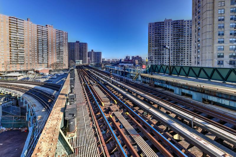 West8. Straßen-U-Bahnstation - New York City stockfotografie