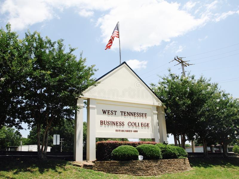 West Tennessee Business College, Jackson TN. West Tennessee Business College is committed to providing high-quality and relevant career training for its students stock photography