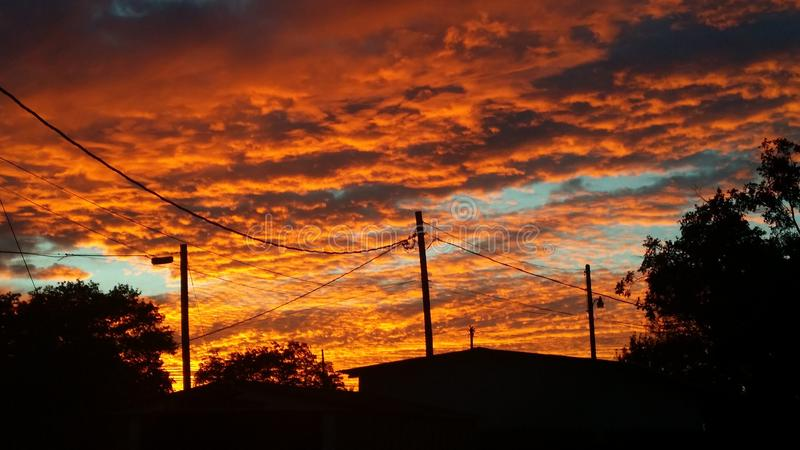 West-Texas Sunset stockbild