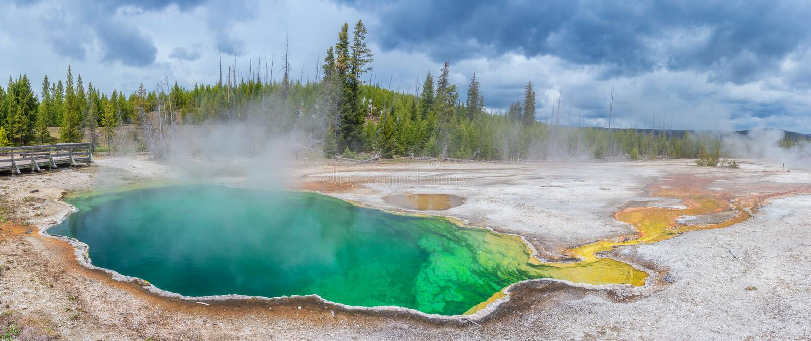 West Thumb Geyser Basin in Yellowstone National Park. USA royalty free stock photography