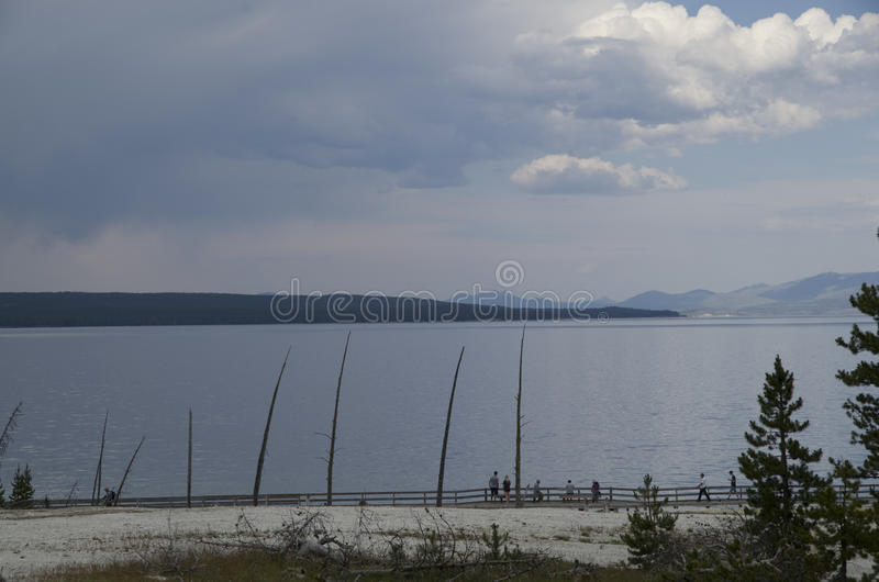 West thumb lake yellowstone. Is a popular site in Yellowstone stock images
