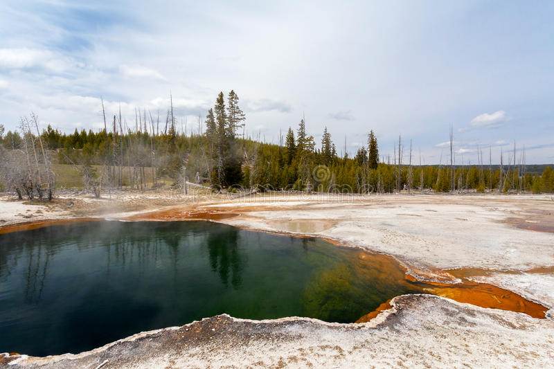 West Thumb, Yellowstone, Wyoming, USA. West Thumb, Yellowstone Wyoming USA May 10, 2015 royalty free stock image