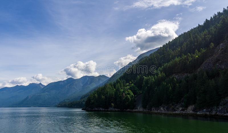 WEST VANCOUVER, CANADA - JUNE 2, 2019: landscape view of Horseshoe Bay summer morning royalty free stock photography