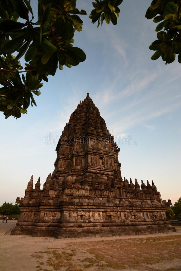 West view of the Brahma temple. Prambanan. Yogyakarta region. Java. Indonesia royalty free stock photography