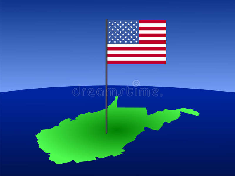 West- Virginia met Vlag stock illustratie