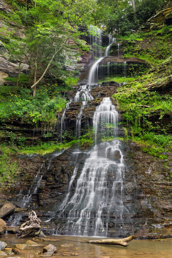 West Virginia's Cathedral Falls royalty free stock photos