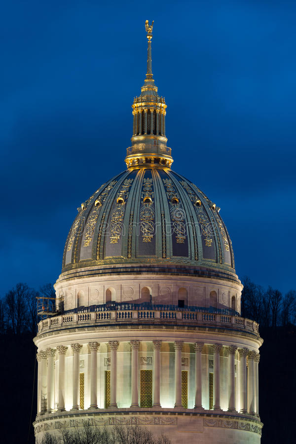 West Virginia State Capitol dome royalty free stock image