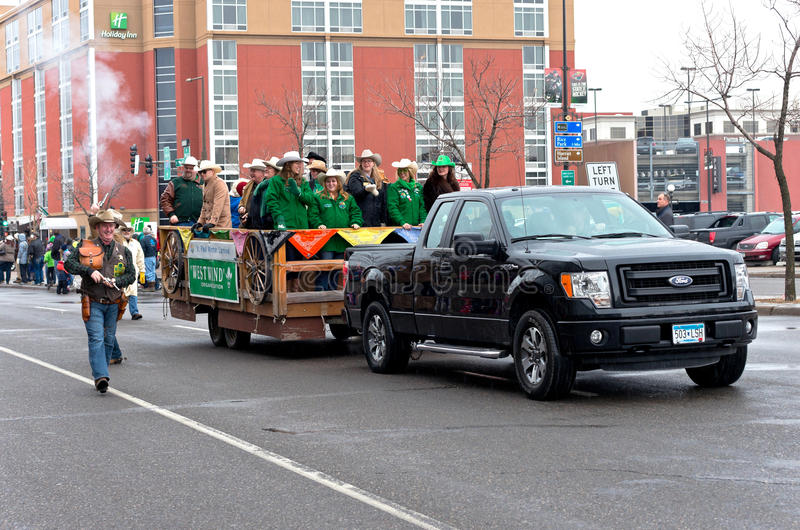 West Wind Motorcade in Winter Carnival stock photo
