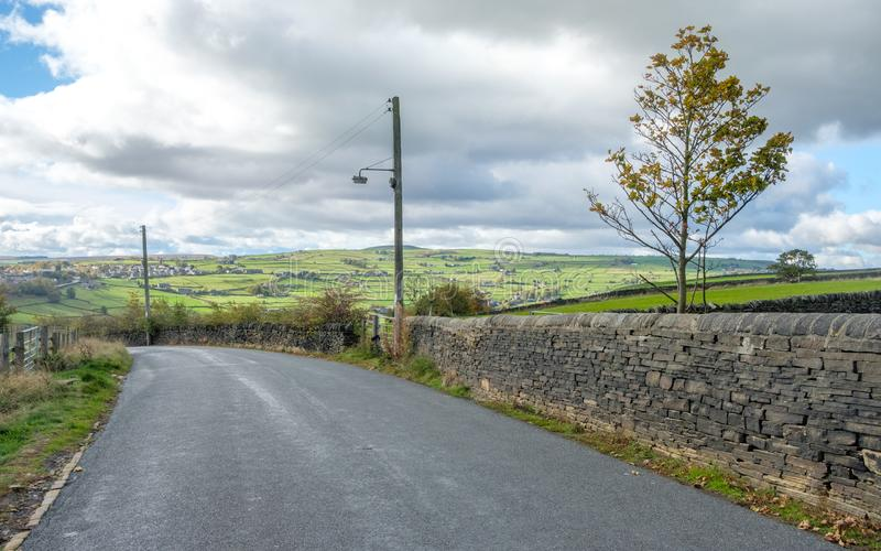 West Yorkshire Landschaft lizenzfreies stockfoto