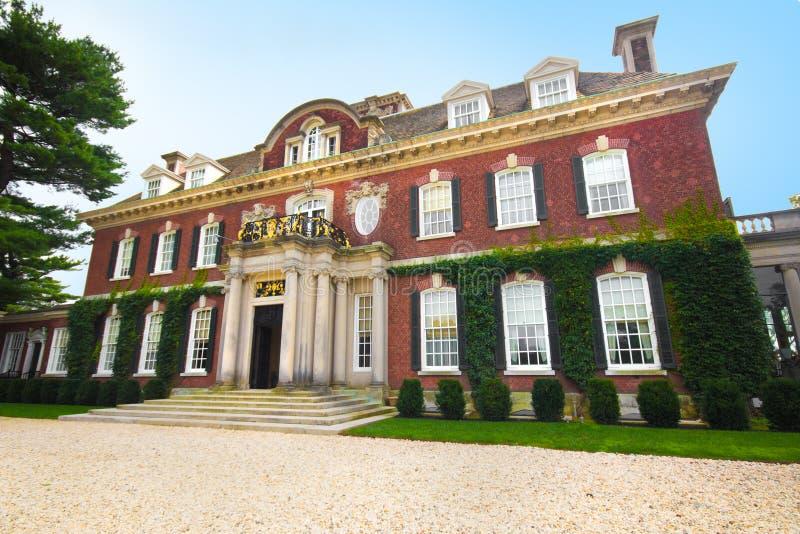 Westbury Gardens Mansion. Landmark gold coast Long Island mansion at Westbury Gardens royalty free stock image