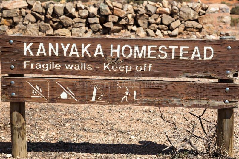 Westchnienia zapamiętania Kanyaka pobliska farma. Południowy Austr obrazy stock