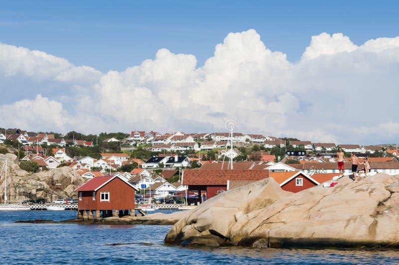 Westcoast do sueco de Hunnebostrand fotografia de stock royalty free