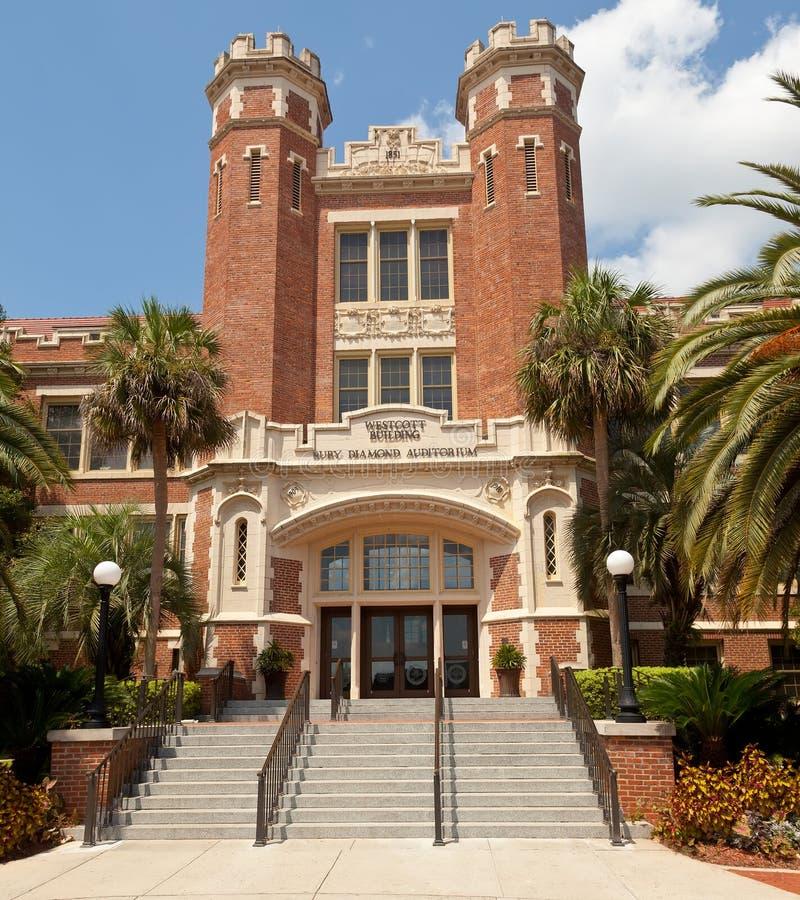 Westcott byggnad, Florida delstatsuniversitet fotografering för bildbyråer