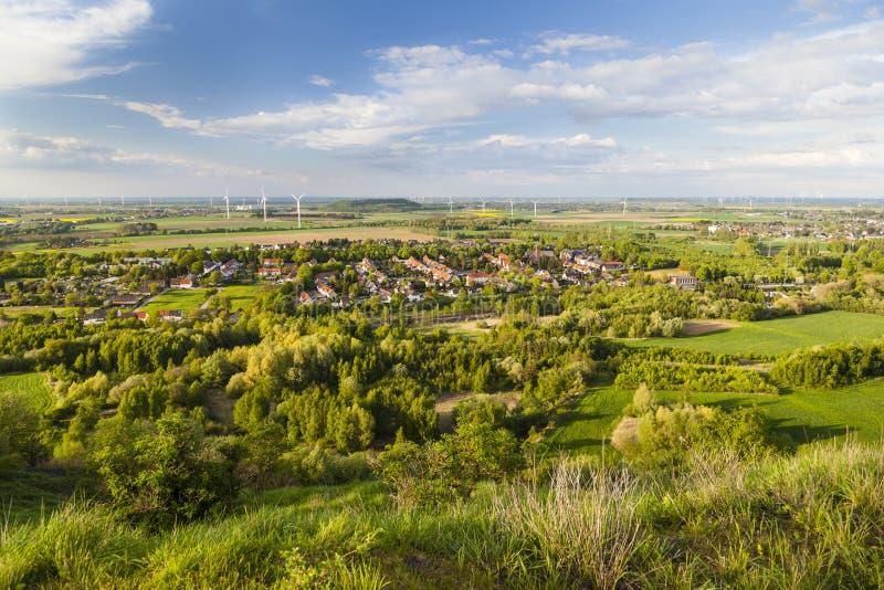 Westdeutsche Wind-Energie-Landschaft stockfoto
