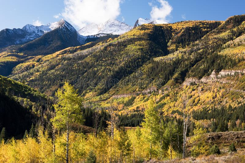 Westelche schlingen szenischen Seitenweg, Colorado 133 auf McClure-Durchlauf, Colorado stockfoto